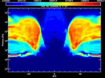 Cloud Grain Number Density on HD209458b